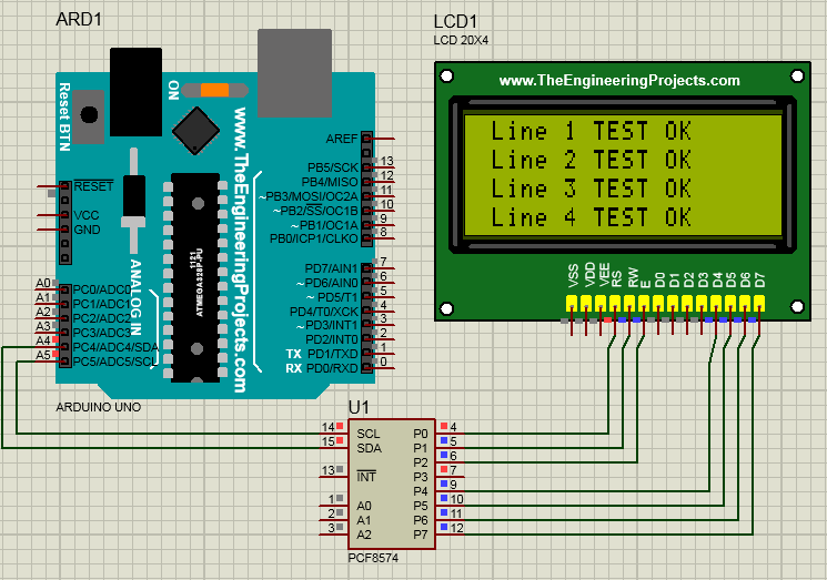 Arduino and I2C LCD in Proteus – microcontrolere